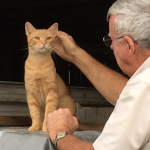 BO (Big Orange) with Claude Hatchett (Deborah's Dad).  BO resides in the barn and is in charge of rodent control.