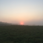 Foggy sunrise in Villanow.  God reminds us daily of His presence.
